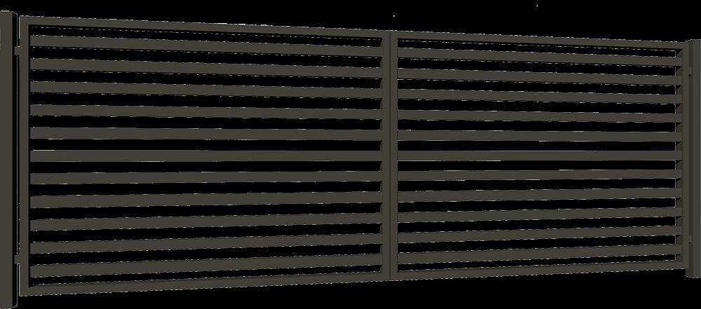 Bramy skrzydłowe palisadowe